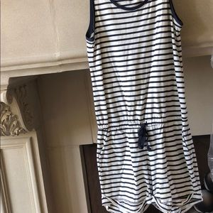 Blue and White Girls XL Romper